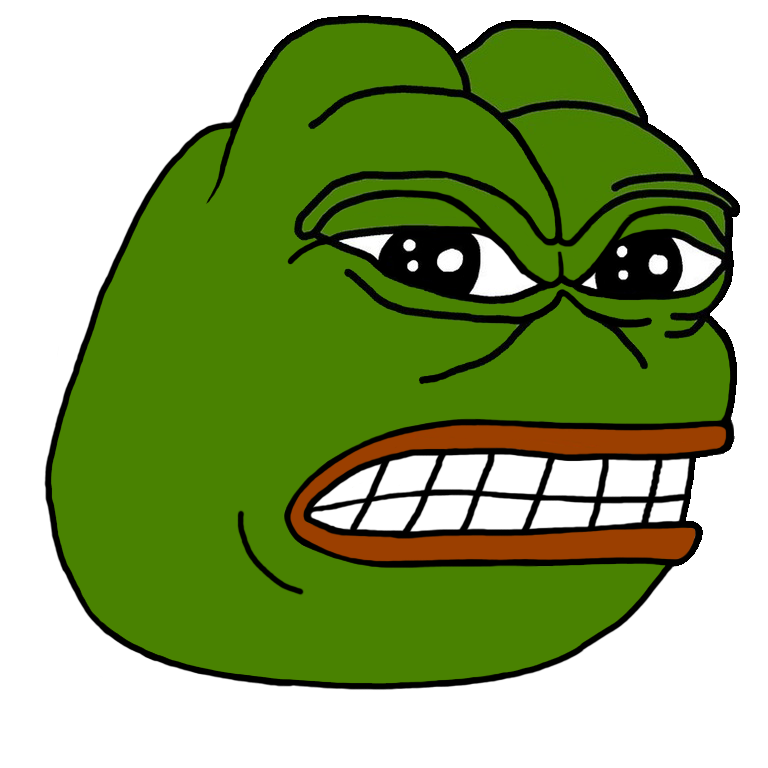 Pepe vector angry transparent. The donald want to