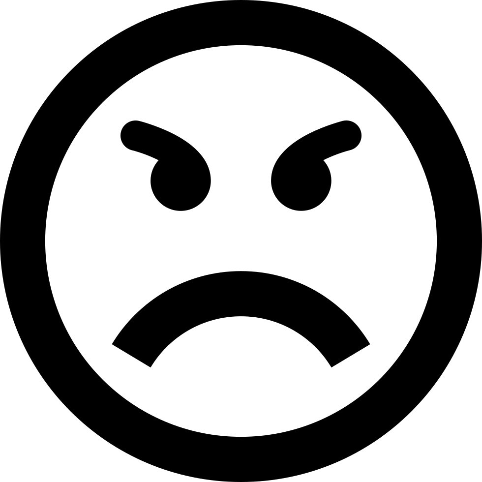 Angry smiley png. Emoticon face rage svg