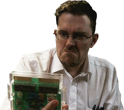 Nerd transparent video game. Angry videogame render by