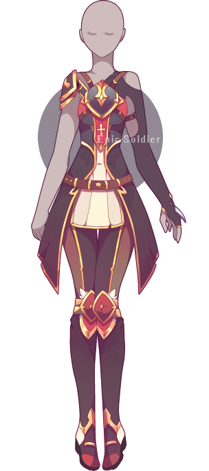 Anima drawing armor. Outfit adoptable open by
