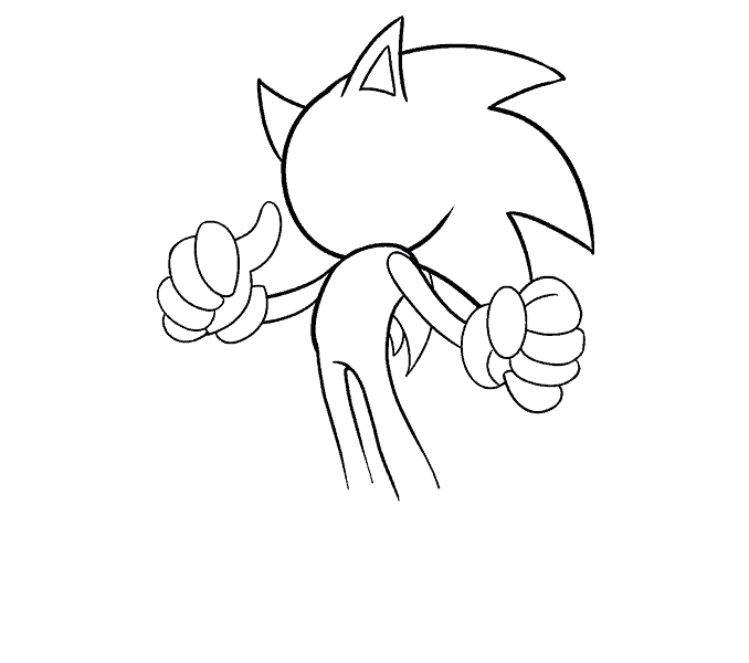 Anima drawing beginner. How to draw sonic
