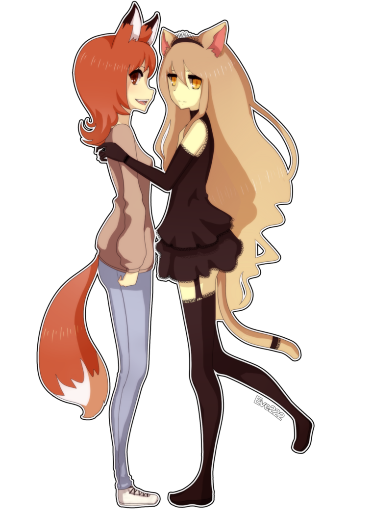 Anima drawing fox. A and cat by
