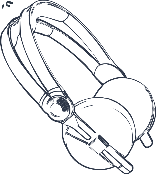 Headphone at getdrawings com. Beats drawing easy jpg black and white
