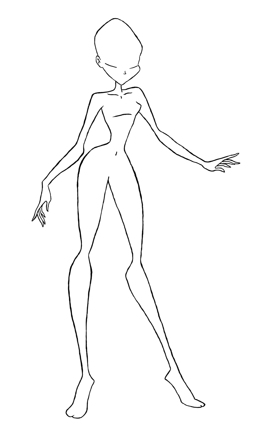 Female human body at. Club drawing blank clip art transparent download