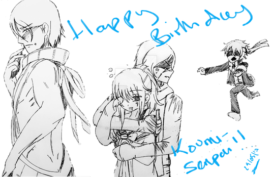 Anima drawing sketch. Bday gift yandere sketches