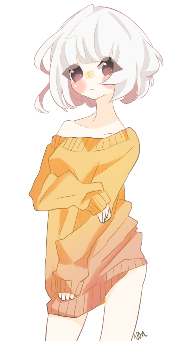 Anima drawing sweater. Baggy by shotavon on