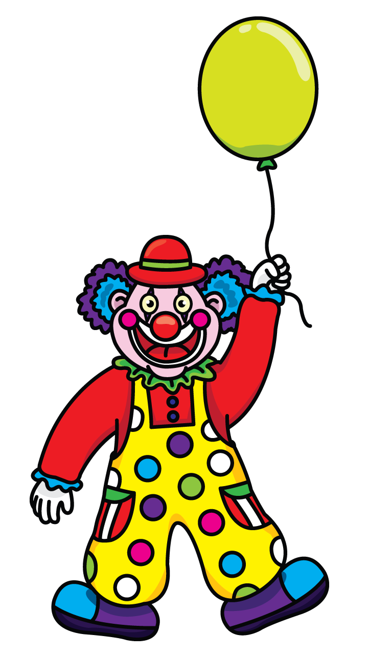 Anima drawing toddler. Clown for the children