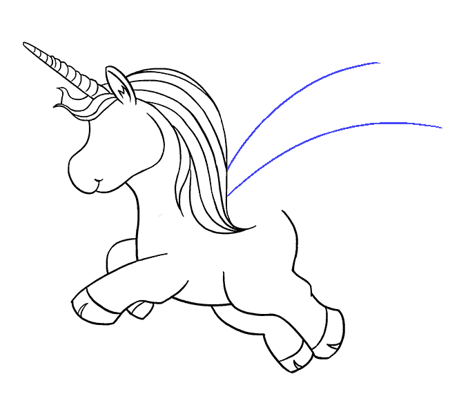 Anima drawing unicorn. How to draw a
