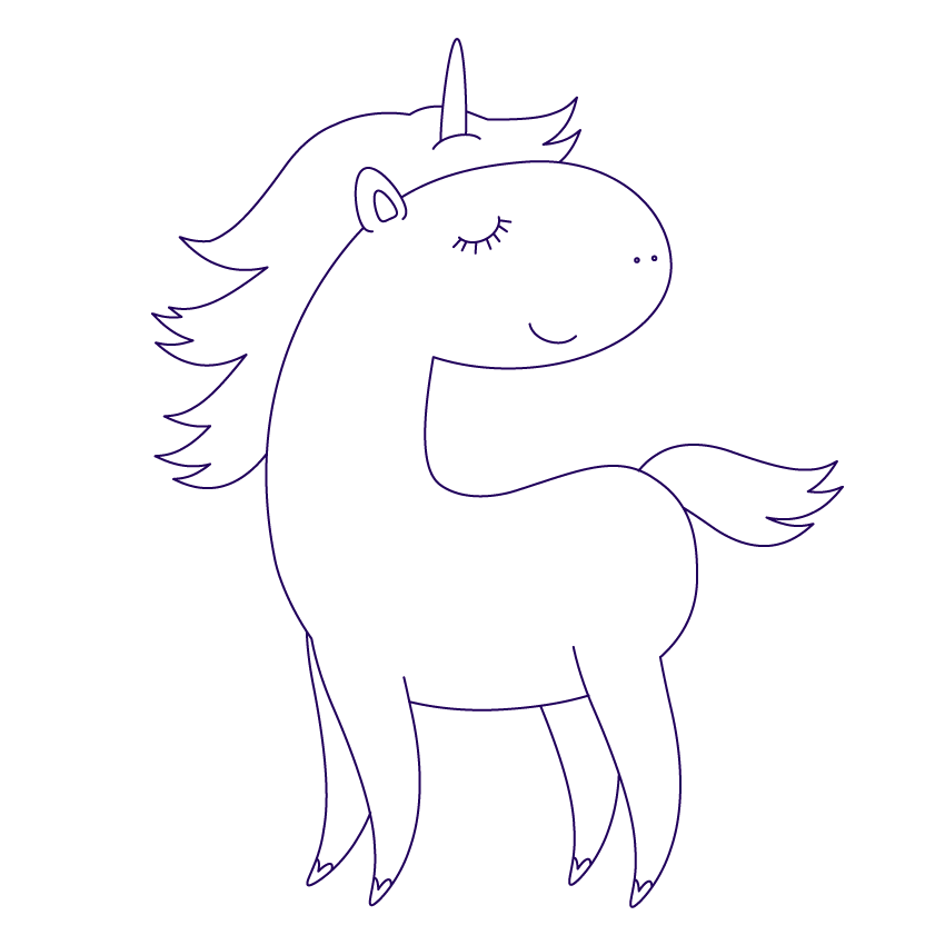 Anima drawing unicorn. How to create a