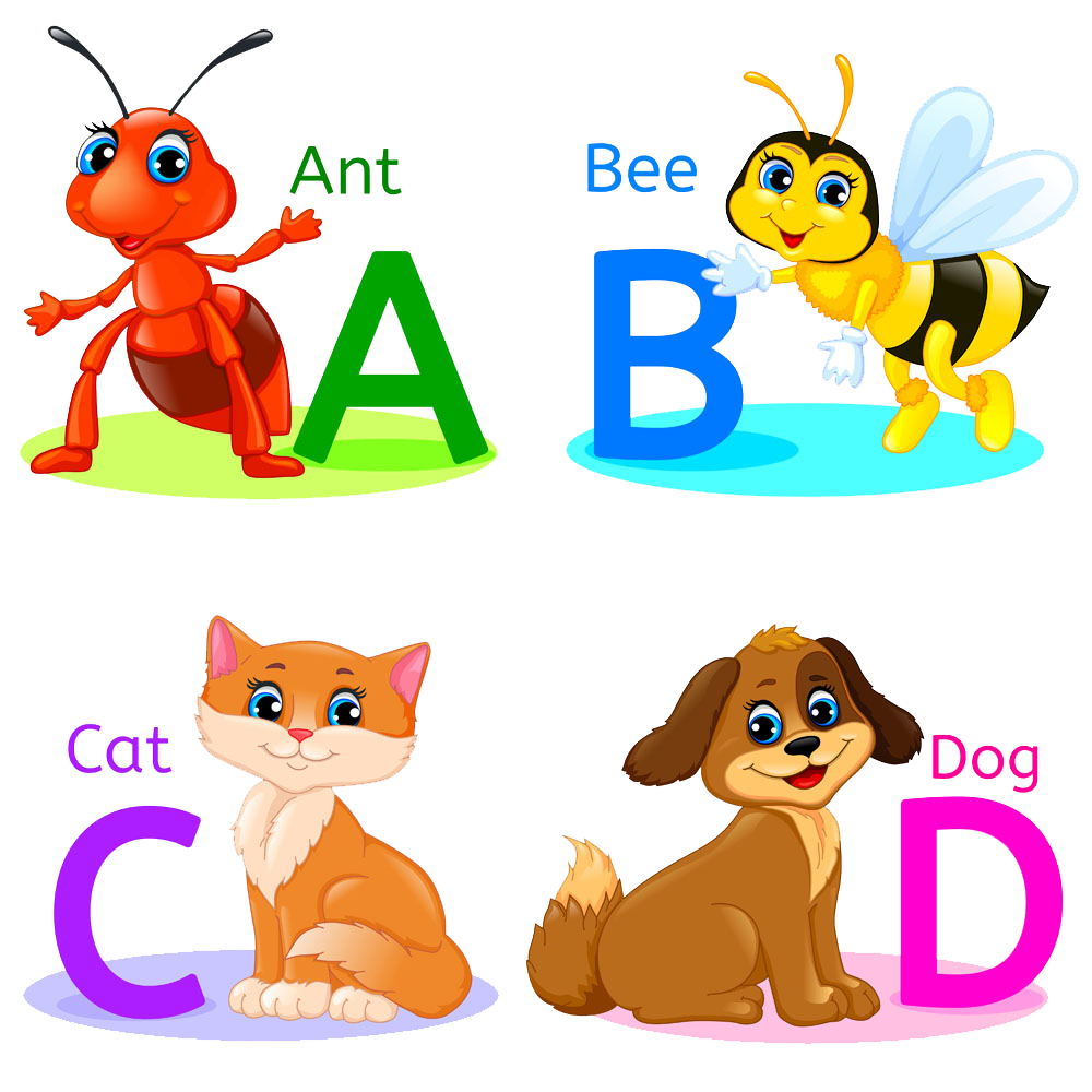 Animal alphabet png. Illustration cartoon vector transprent