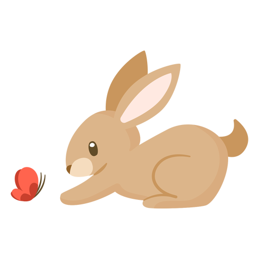 Vector rabbit outline. Animal cartoon transparent png