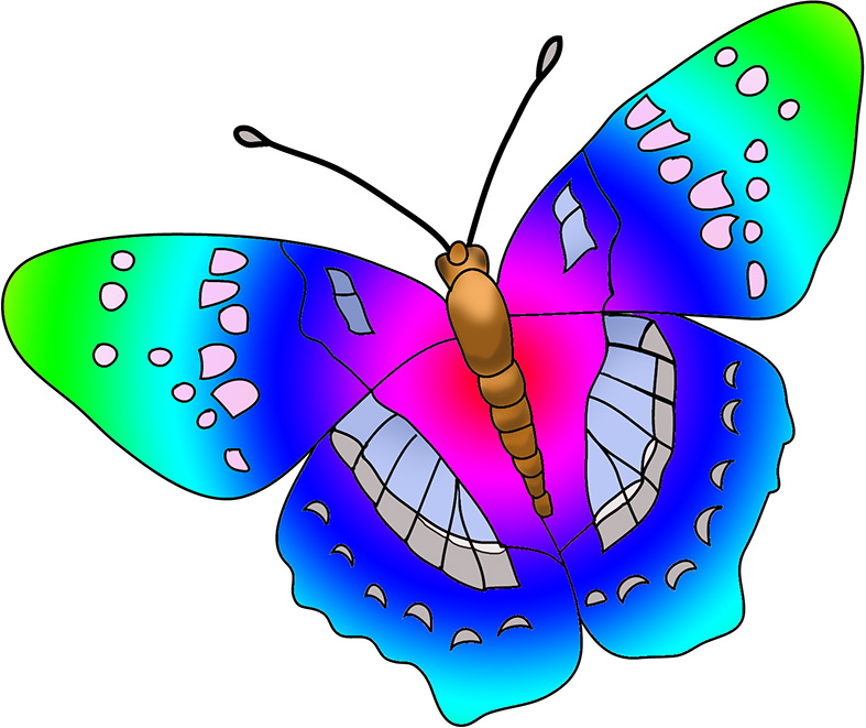 Animal clipart butterfly. Cartoon at getdrawings com