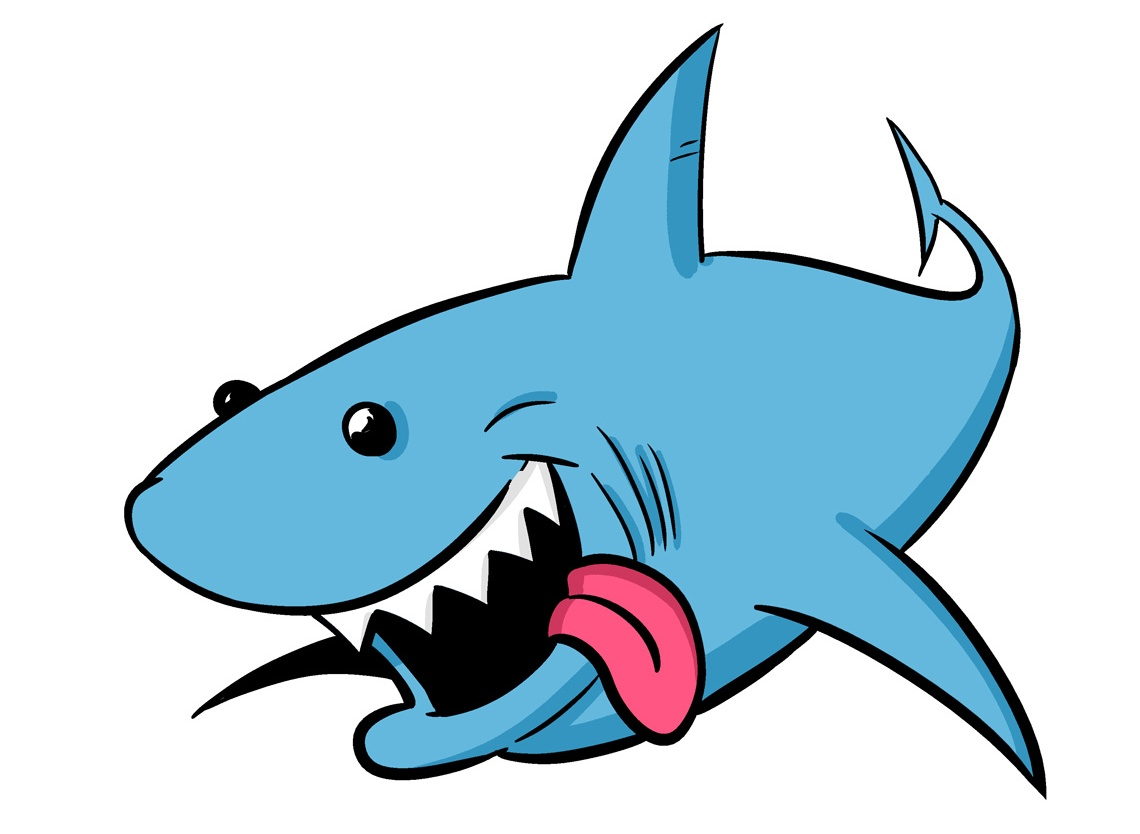 Animal clipart shark. Pencil and in color