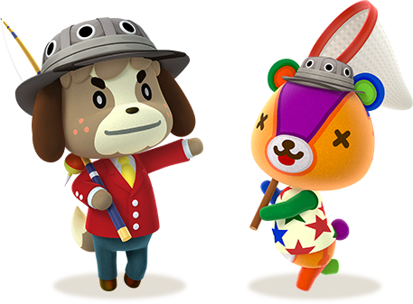 Animal crossing characters png. New leaf welcome amiibo