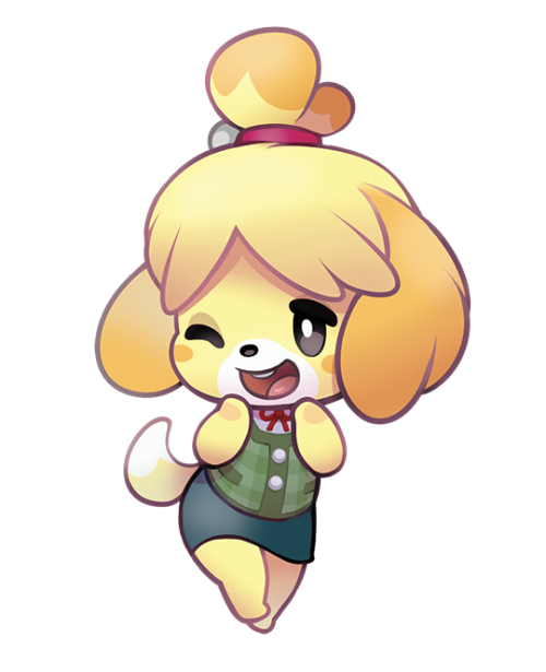 Animal crossing isabelle png. Acnl chibi tumblr from
