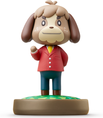 Animal crossing isabelle png. Digby amiibo figure life