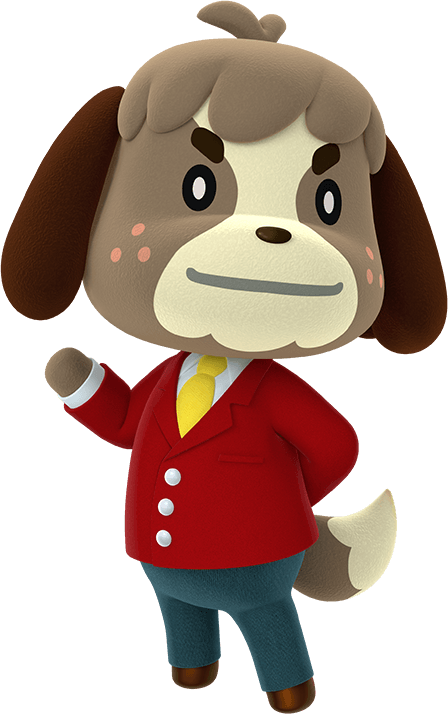 Animal crossing png. Digby transparent stickpng