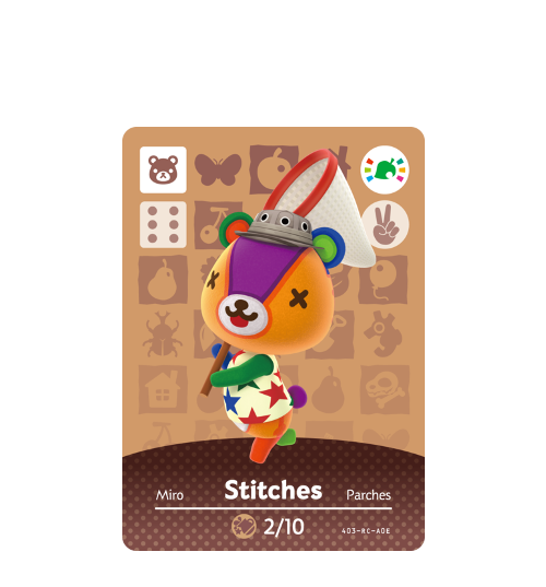 Animal crossing stitches png. Cards promos series amiibo