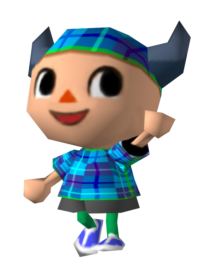 Animal crossing villager png. Image mplayer video games