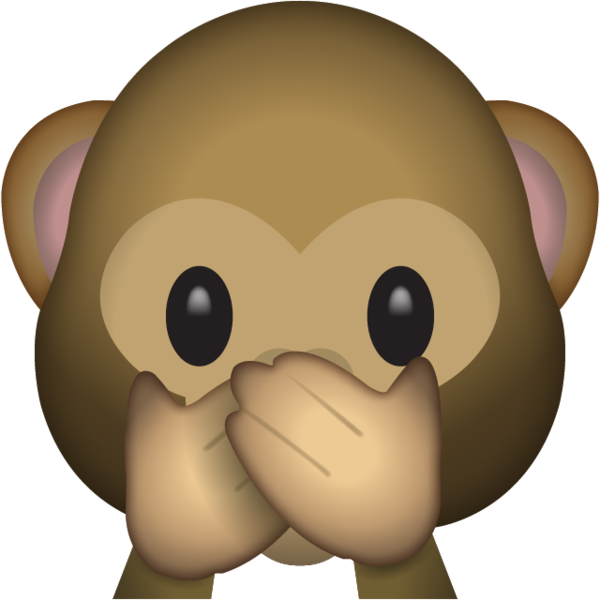 Animal emoji png. Download speak no evil