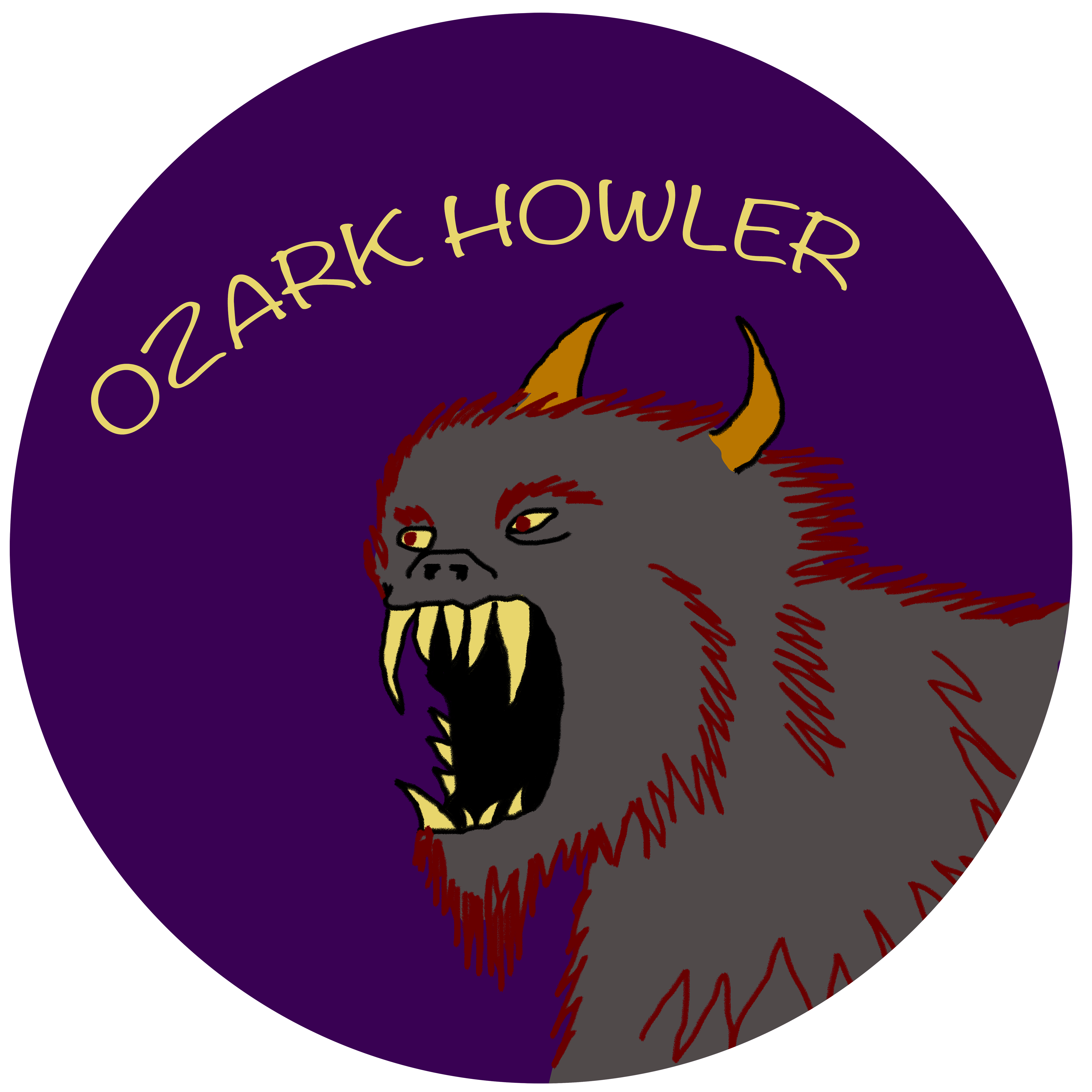 Fang drawing sharp tooth smile. File ozark howler with