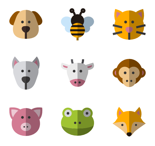 Dogs vector side view