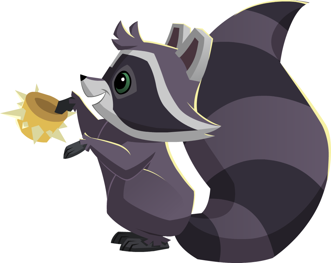 Animal jam png. Image raccoon with a