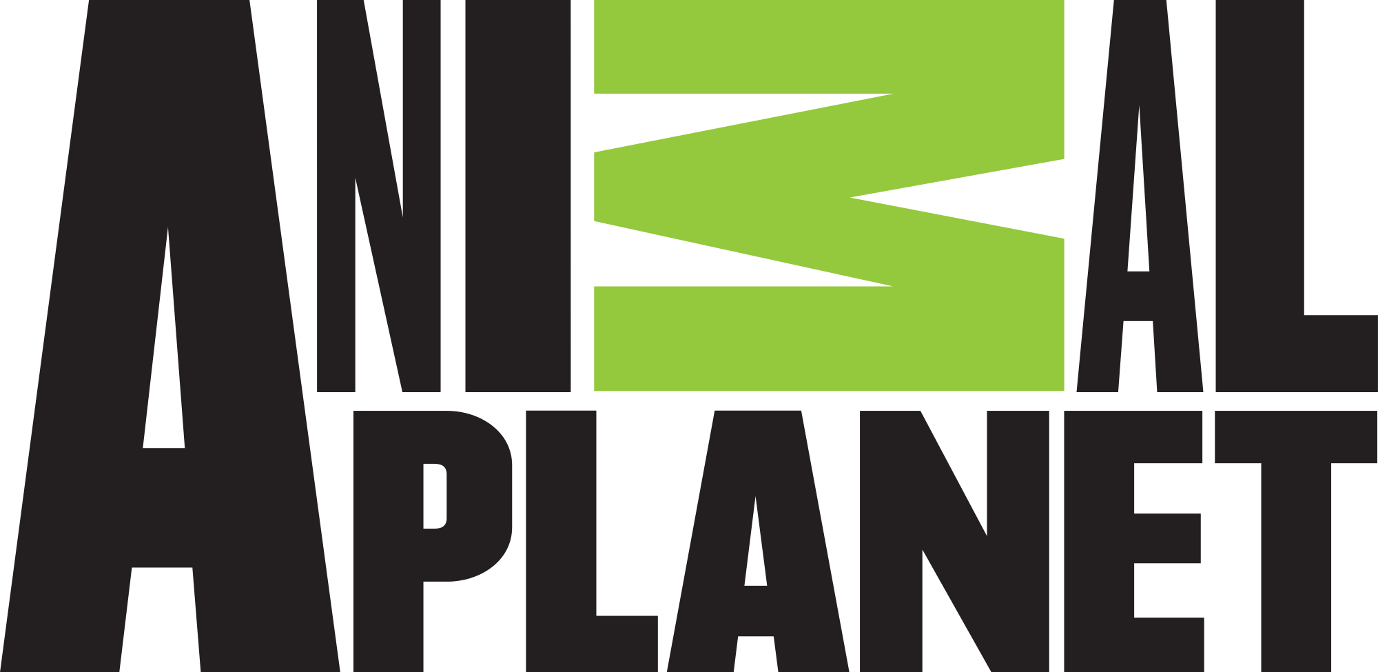 File animal planet logo. Green black png clip library stock