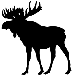 Animal silhouette png. Clip art moose of