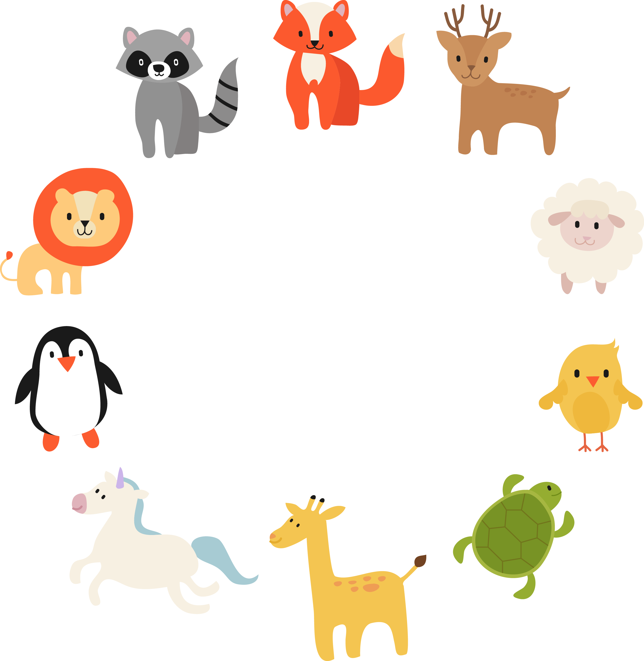Product drawing cartoon. Animal vector material animals