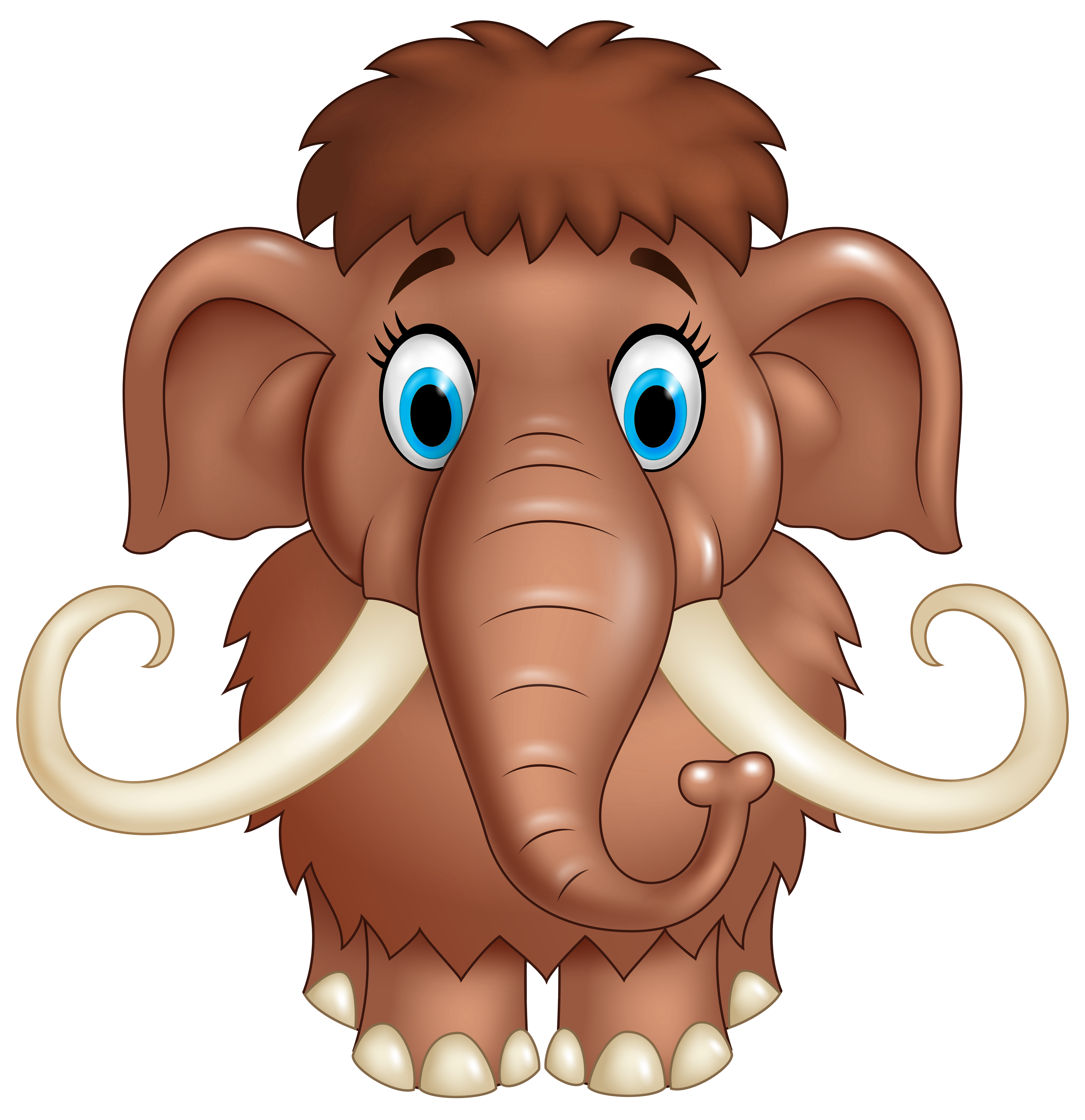 Animals cartoon png. Cute mammoth clipart image