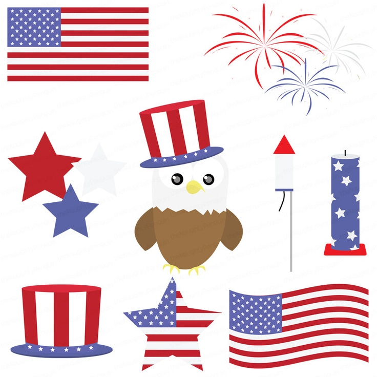 Animals clipart 4th july. Best th images