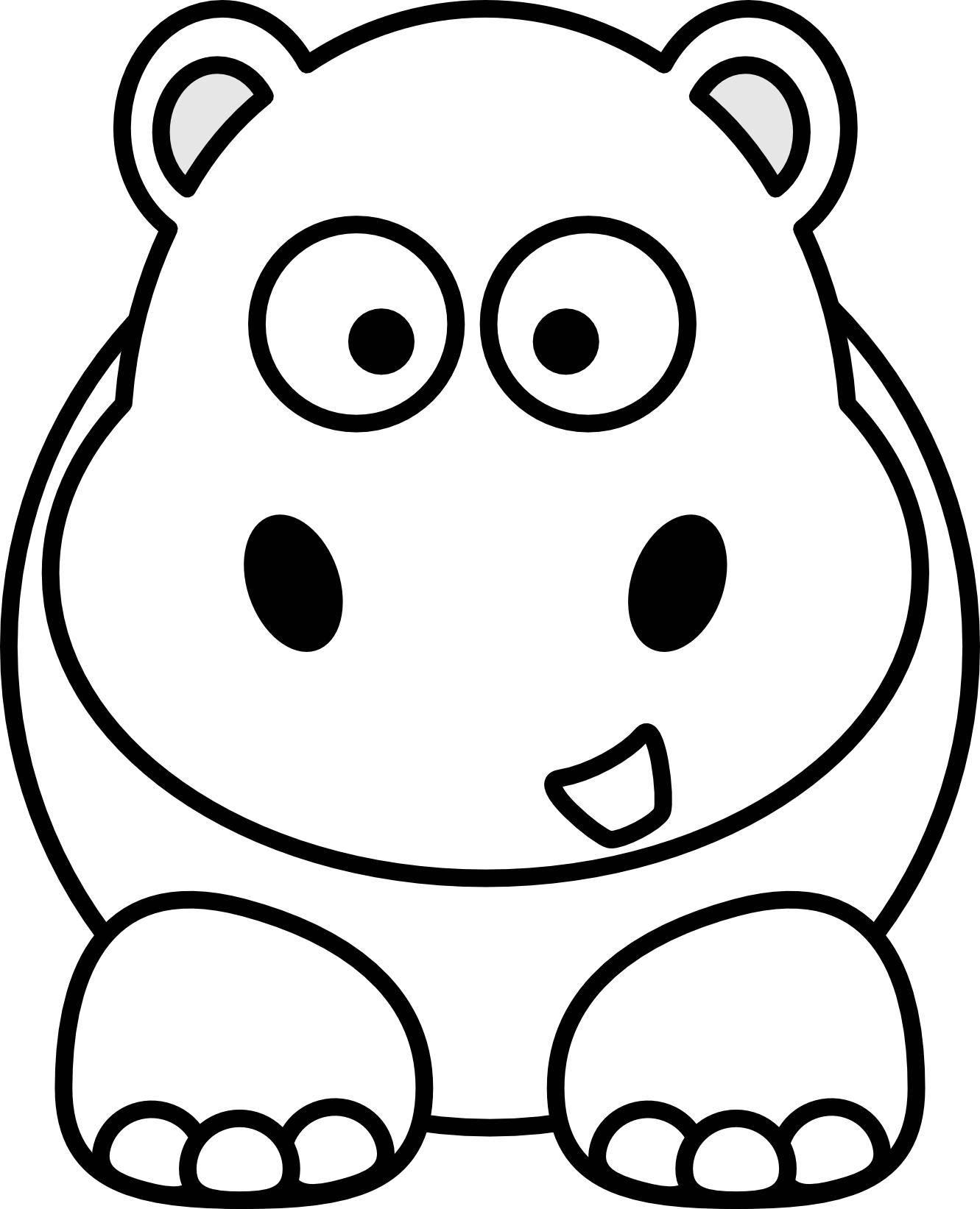 Animals clipart black and white. Animal panda free images