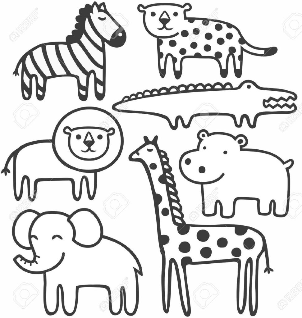 Animals clipart black and white. Zoo letters in clip