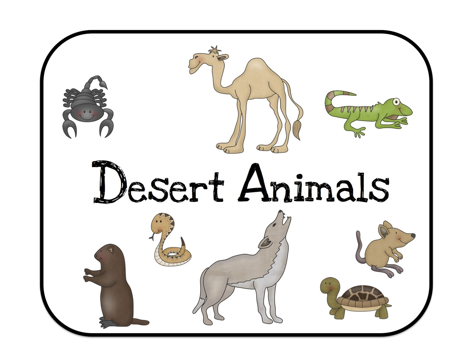 Animals clipart plant. Desert animal bul typegoodies