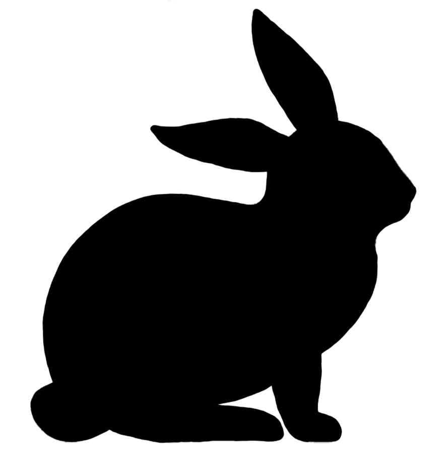 Easter bunny silhouette png. Animal clip art rabbit