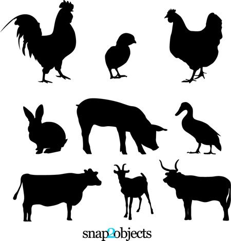 Animals clipart silhouette. Best animal silhouettes