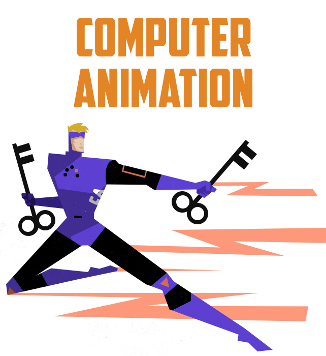 Drawing movies collage. Computer animation ringling college