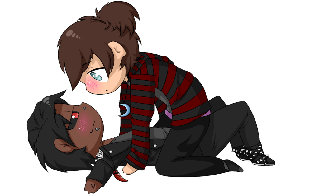Animate drawing couple. Cute chibi ych auction