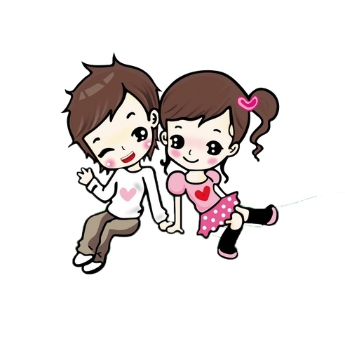 Animate drawing couple. Cute love animation k