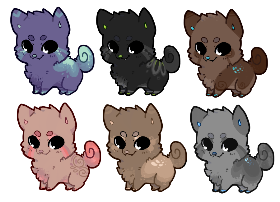 Animate drawing cute chibi dog. Adoptables open by iexie