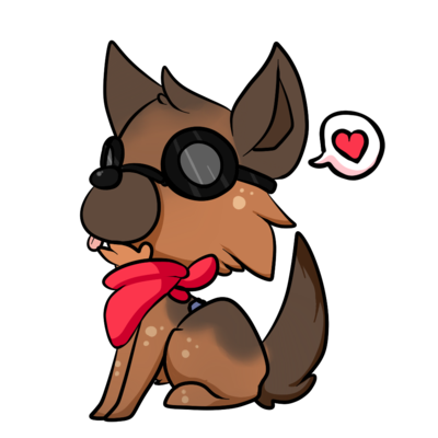 Animate drawing cute chibi dog. Lil dogmeat by xchibixx