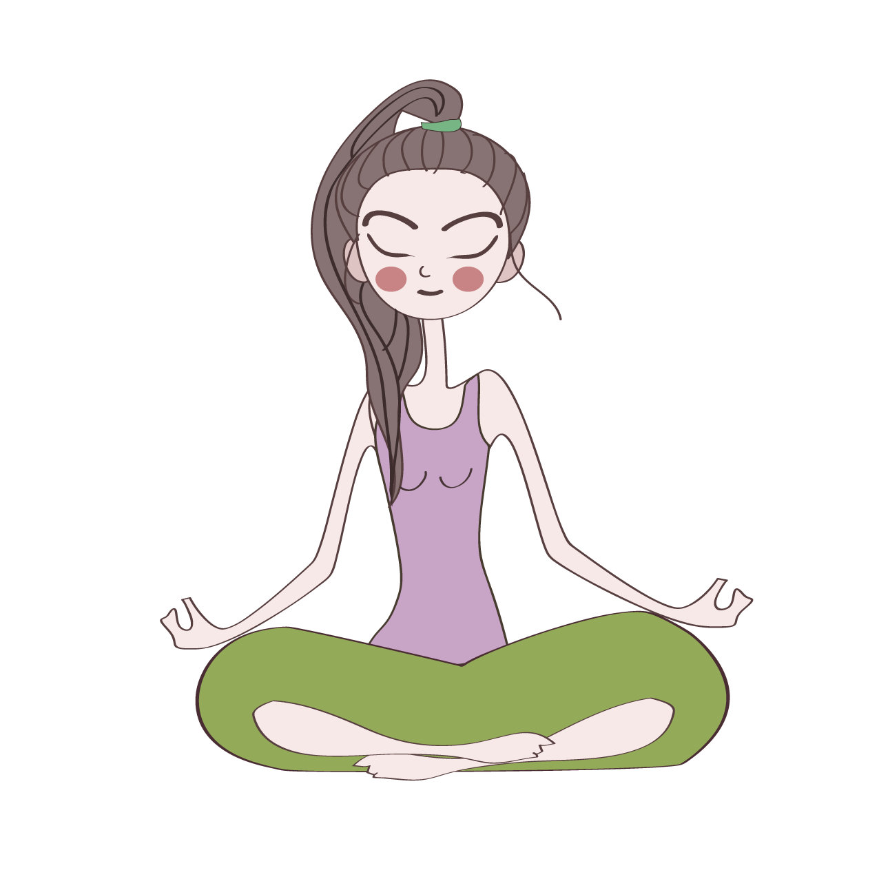 Yoga cartoon image png. Girl transprent free download