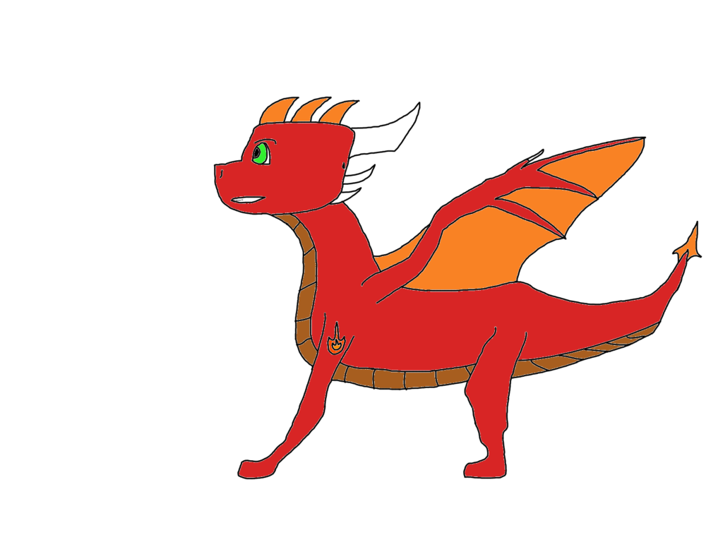 Expert drawing dragon. The gift of krest