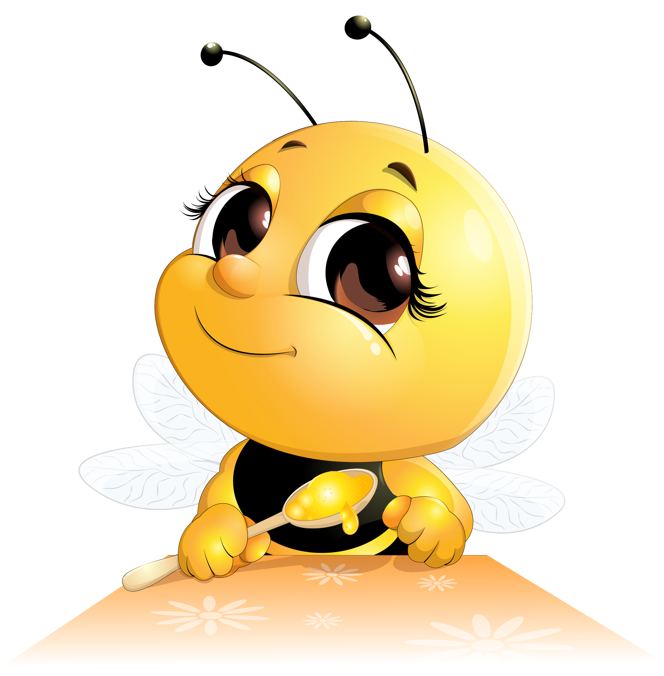 Animated butter png. Honey bee cartoon meal