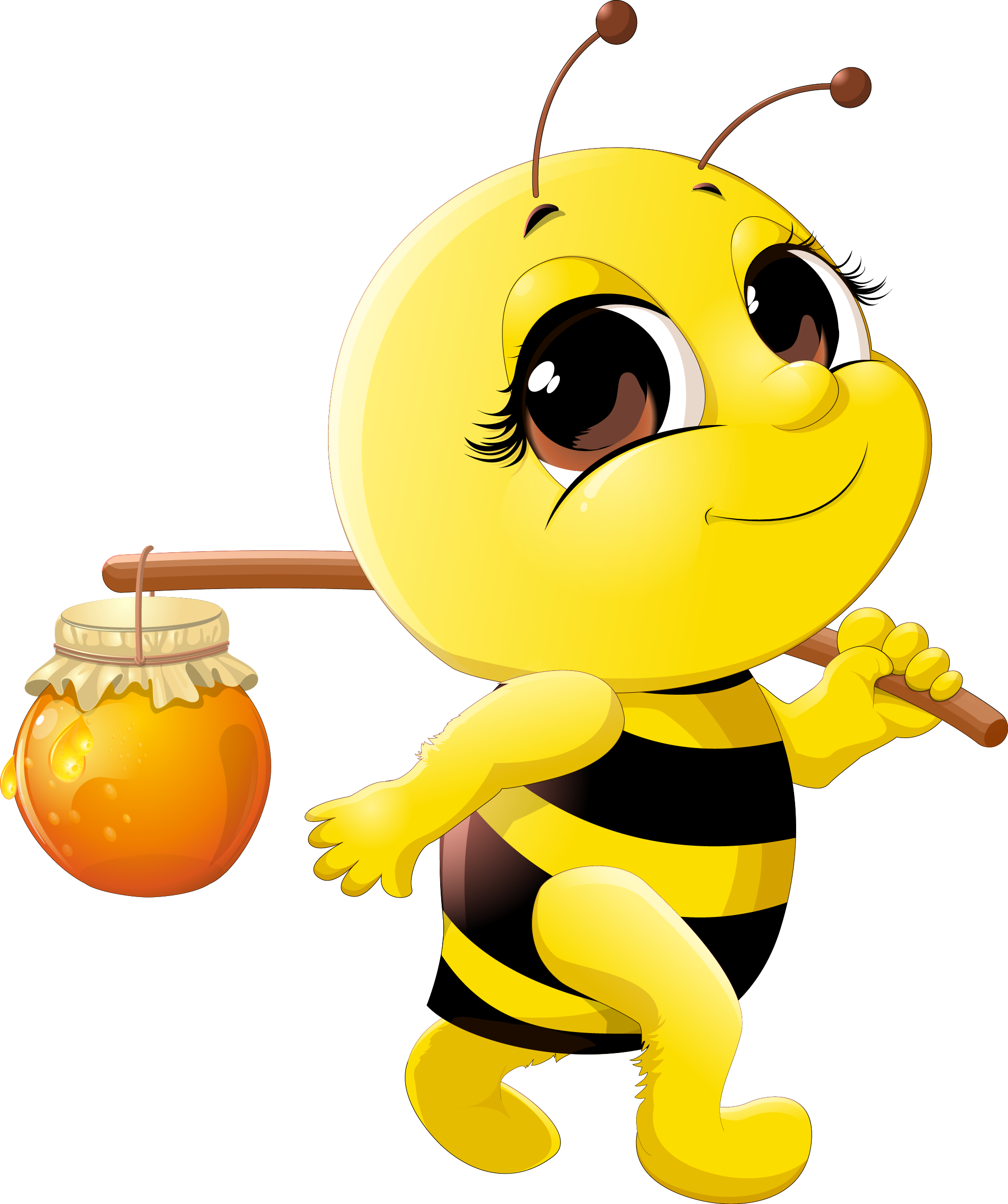 Animated butter png. Honey bee cartoon clip