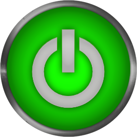 Green power button png. Free clipart gifs