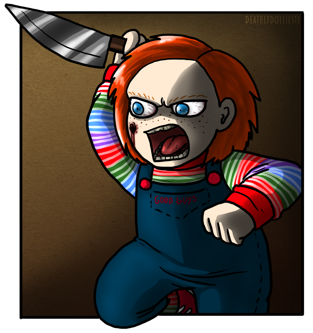 Chucky vector sketch. Childsplaychildren deviantart gallery