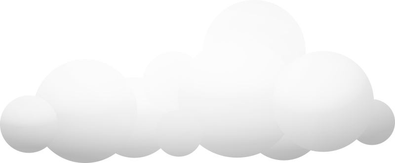 Animated clouds png. Illustration of two small