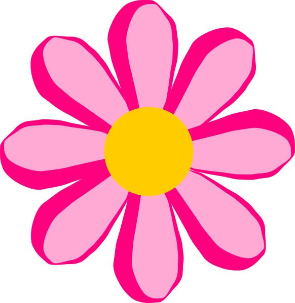 Animated flower png. Pink clip art at